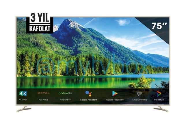 "75"" Roison RE55778 Android Smart UHD 4K HDR IPS LED смарт телевизор"