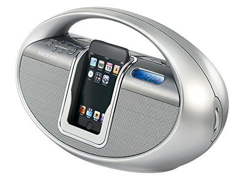 Scott iSX10SL Portable Sound System for iPod with AM/FM Radio - Silver