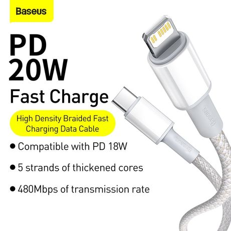 Кабель Baseus High Density Braided Fast Charging Data Cable Type-C to