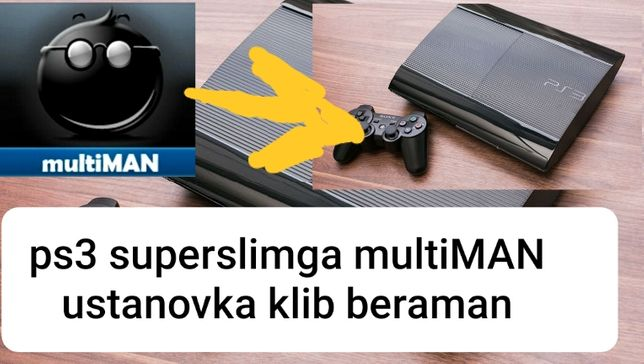 Playstation3 ps3 superslim установка multiMAN+игры