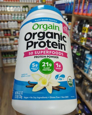 Organic Protein Powder, Plant Based, Natural Unsweetened, 1.59 lbs (72