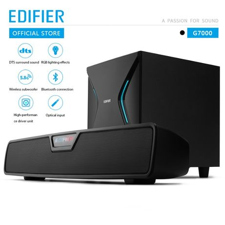 Продам новый Edifier G7000/Optical/DTS/USB/Bluetooth/RGB/86 ватт/AUX/