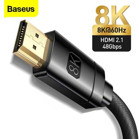 BASEUS Кабель 8K/60Hz 4K/120HZ 48Gbps HDMI to HDMI Cable for PS5 PS4