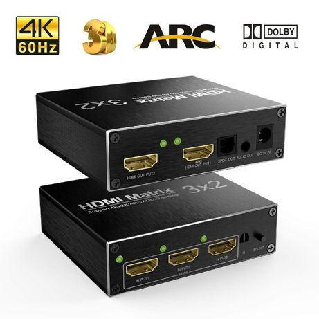 HDMI 3x2 Splitter 4K Ultra HD 2160P (No SPDF)
